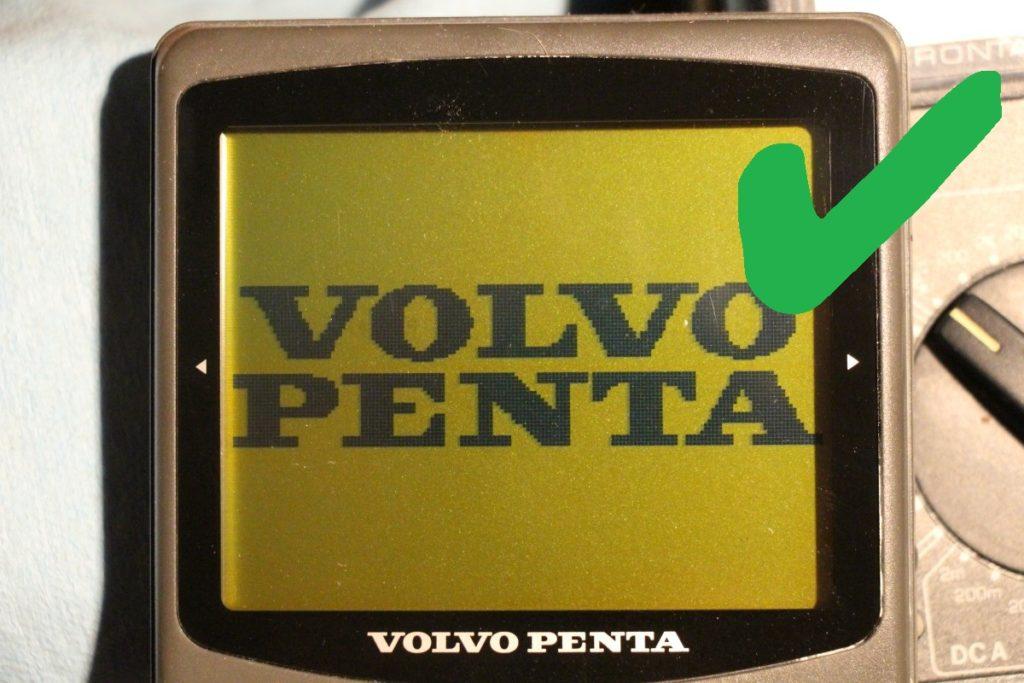 repaired Volvo Penta EVC