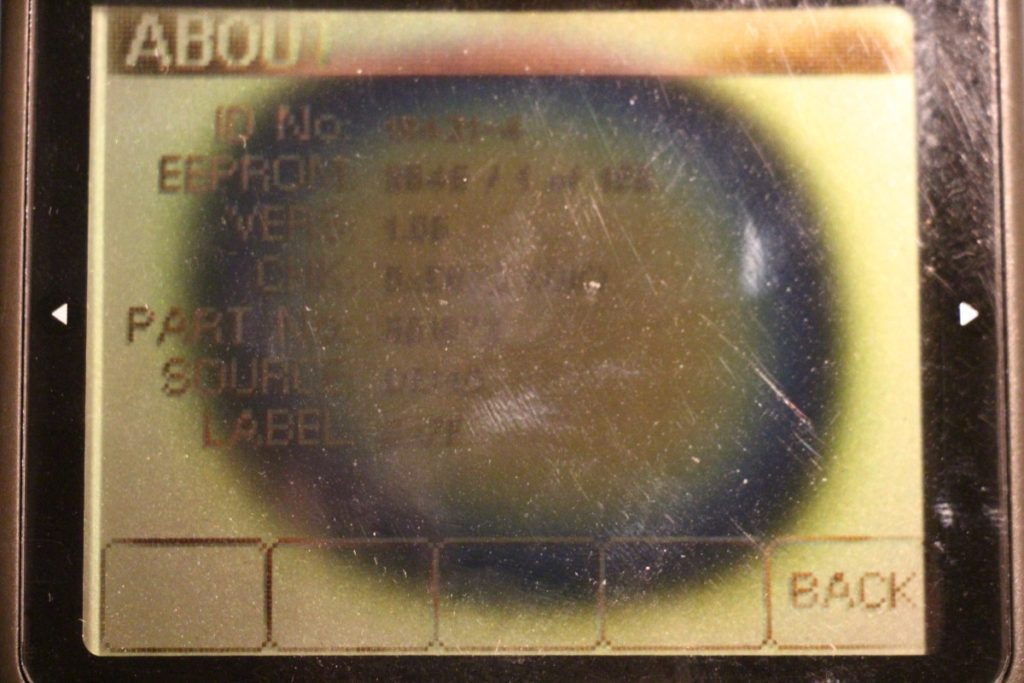 severly burned burnt Volvo Penta engine monitor LCD screen